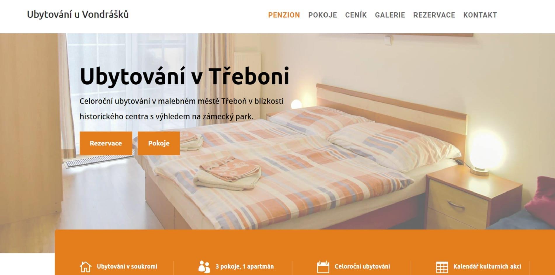 Ubytování u Vondrášků - ubytování v Třeboni