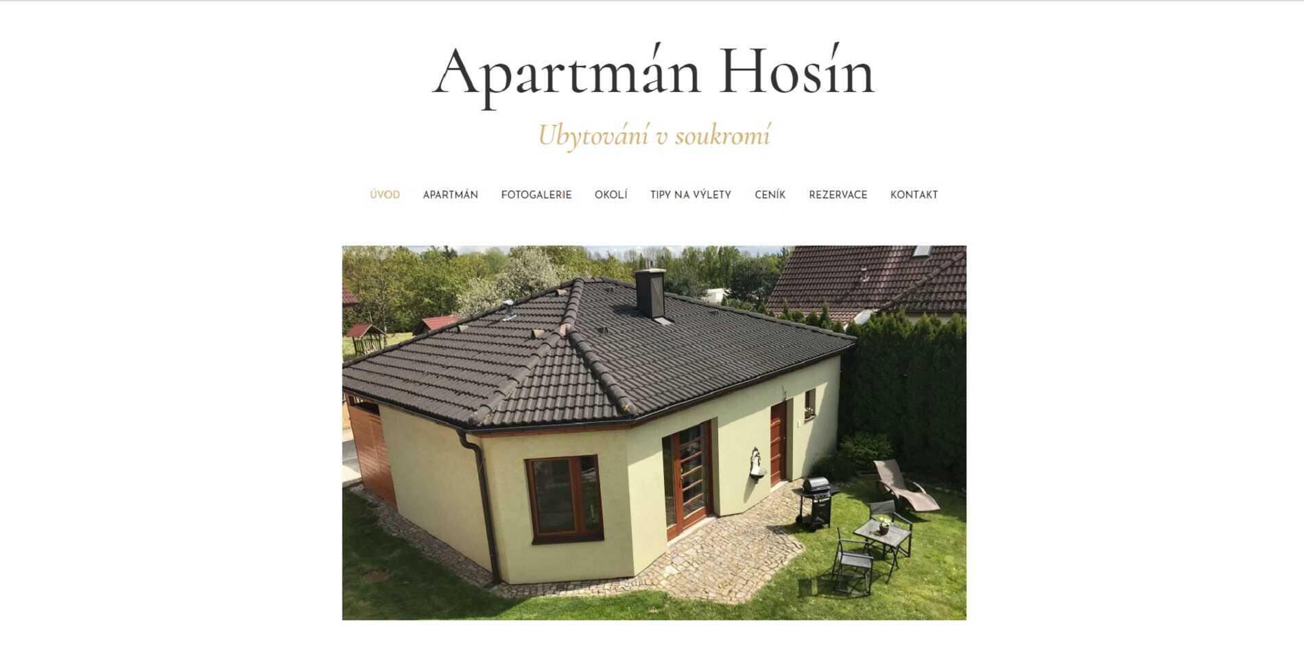 Apartmán Hosín - Ubytování Hluboká nad Vltavou