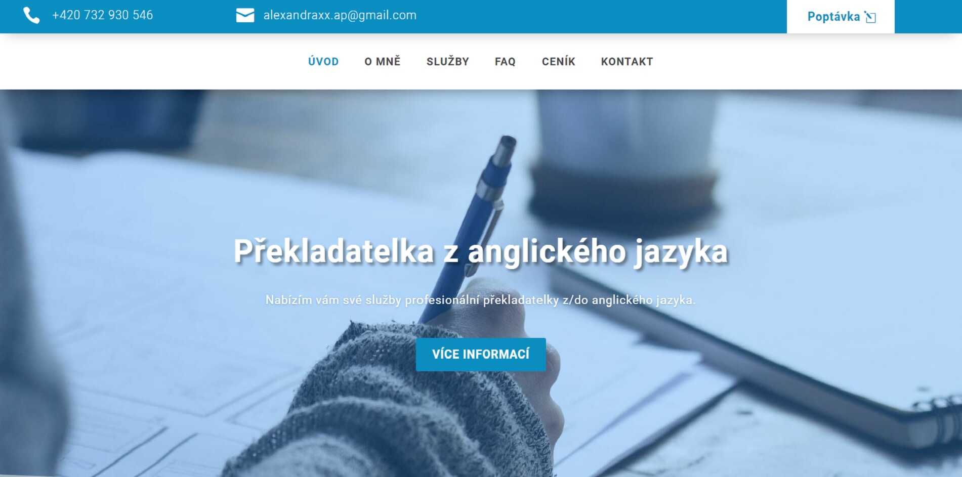 Alexandra Šípová - překladatelské služby